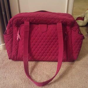 Authentic Vera Bradley Fuschia Diaper Bag